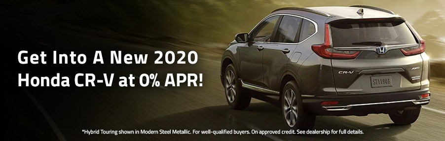 Get Into A New 2020 Honda CR-V at 0% APR!